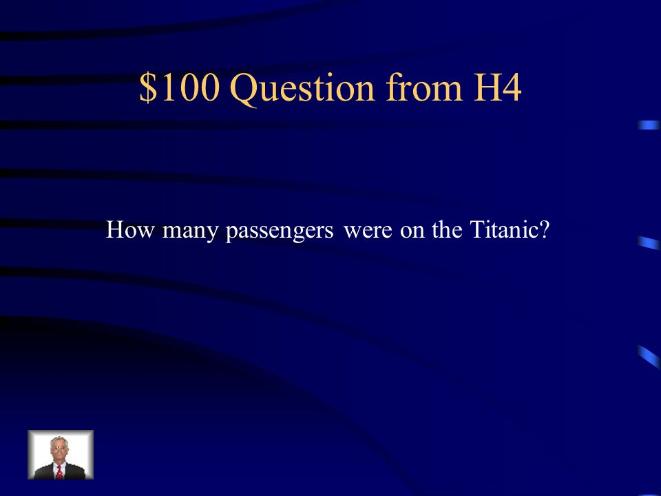 $500 Answer from H3 First class, Second class Third class/steerage