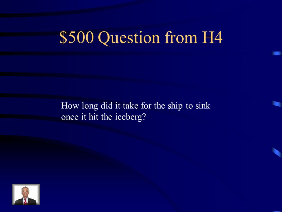$400 Answer from H4 Approximately 700