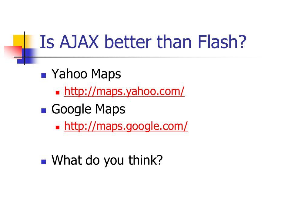 AJAX Web Application Model Advantages.