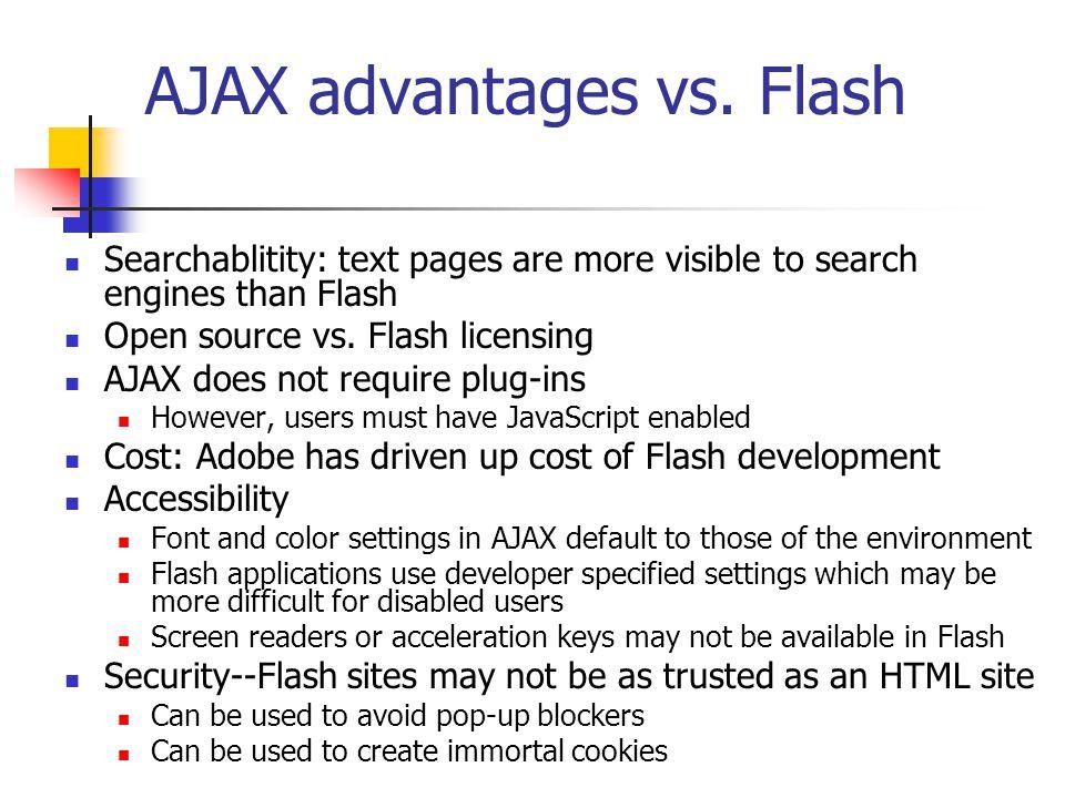 Is AJAX better than Flash.