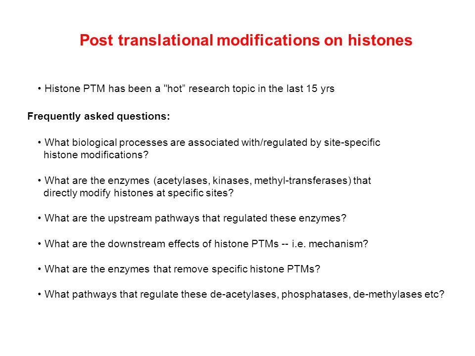 Histone PTM has been a