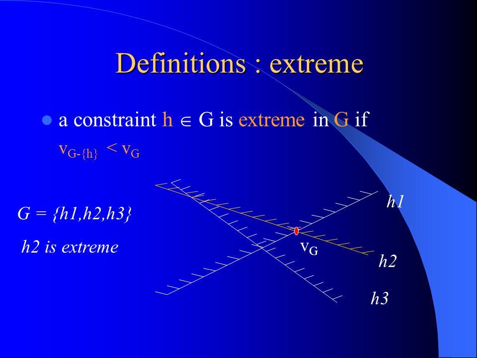Lemma 1 1.For F  G  H  H +, v F < v G 2. v F, v G are finite and v F = v G.