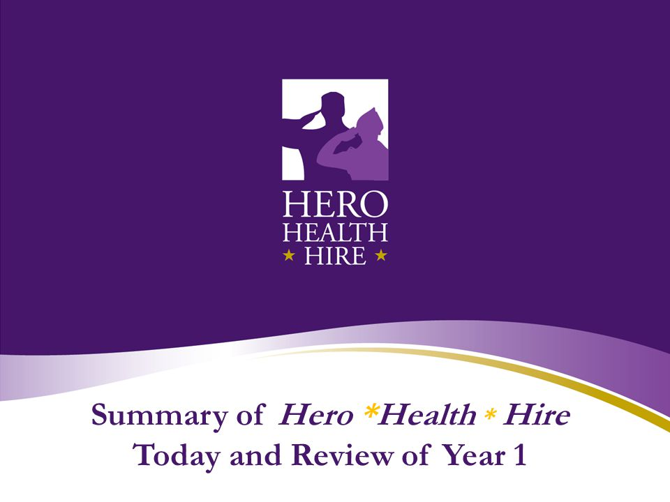Summary of Hero *Health * Hire Today and Review of Year 1
