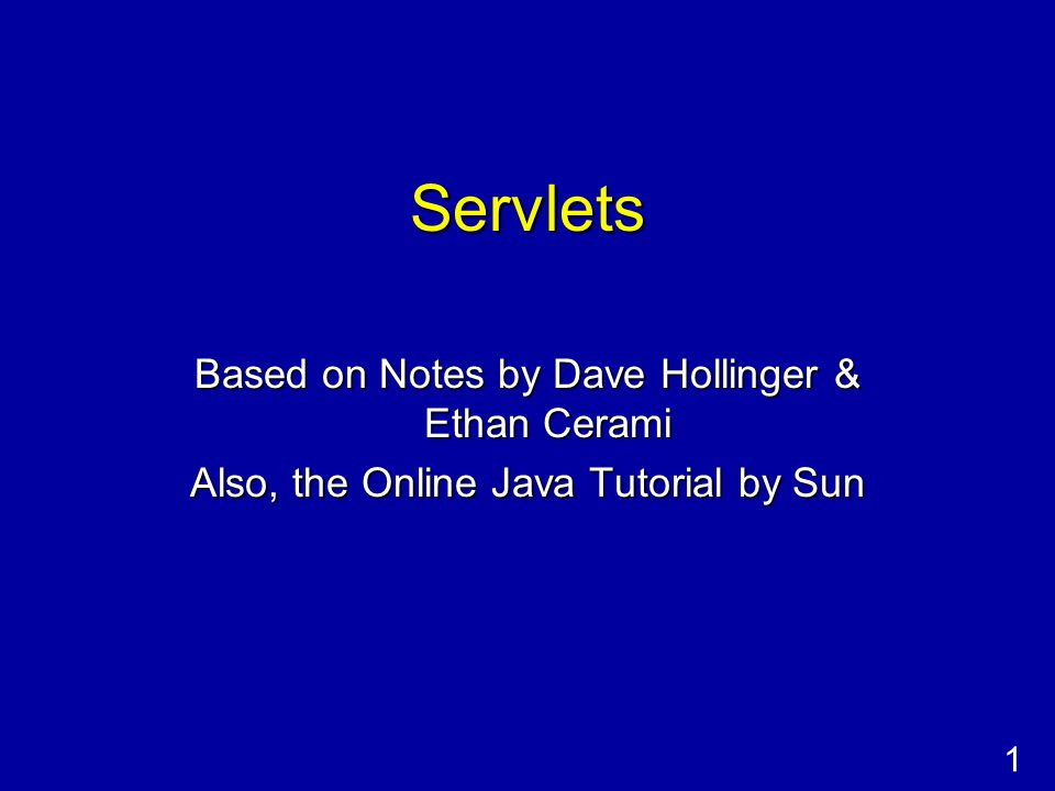 2 Netprog 2002 - Servlets What is a Servlet.