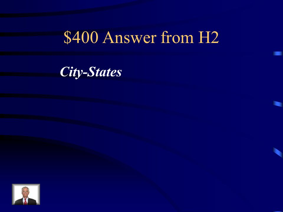 $400 Question from H2 Free men of ancient Greece lived in independent _______