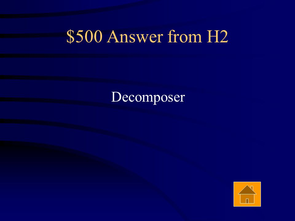 $500 Question from H2 Always the last organism in a food chain Answer