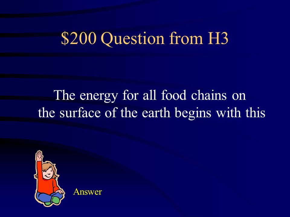 $100 Answer from H3 decreases