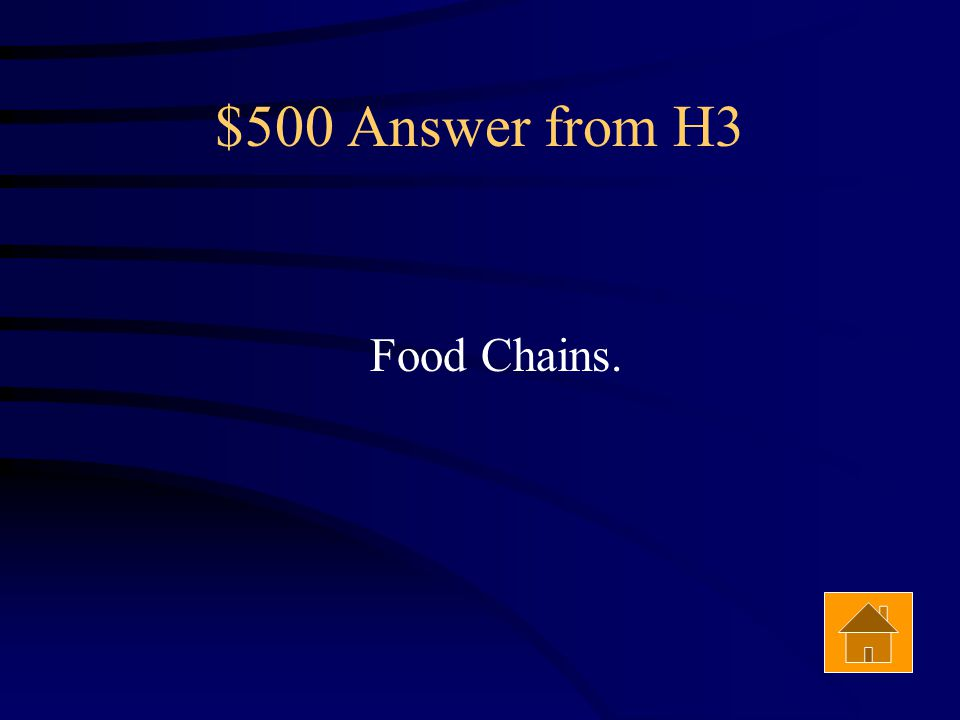 $500 Question from H3 A food web is a series of overlapping __________ Answer
