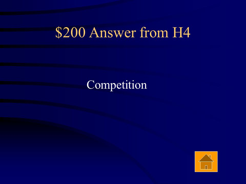 $200 Question from H4 Answer Two species struggling to hunt the same species of prey in the same habitat are are in___________