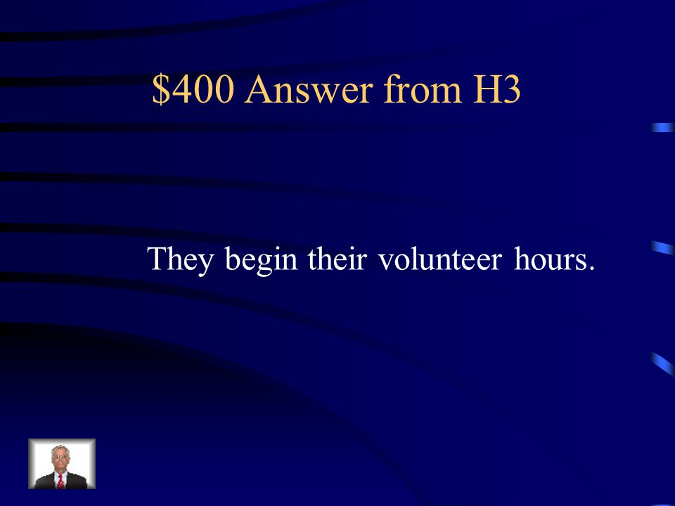 $400 Question from H3 What do the children do between the ages of 8 and 12