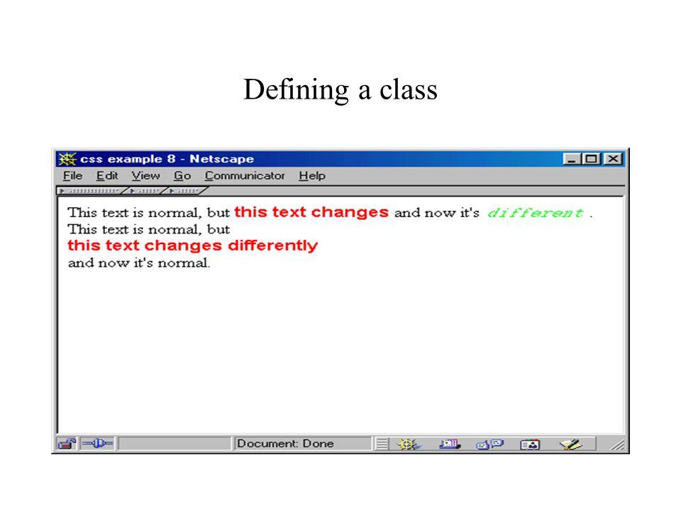 Defining a class