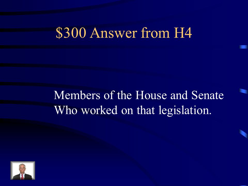 $300 Question from H4 A conference committee is composed Of whom