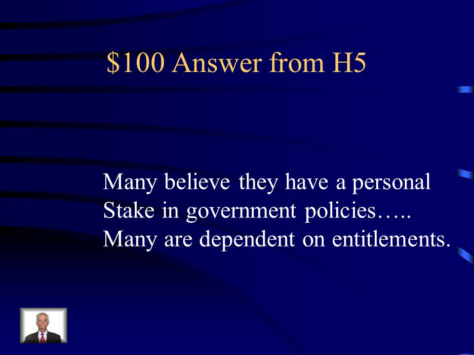 $100 Question from H5 What is one reason that citizens Over age 65 vote in such large Numbers