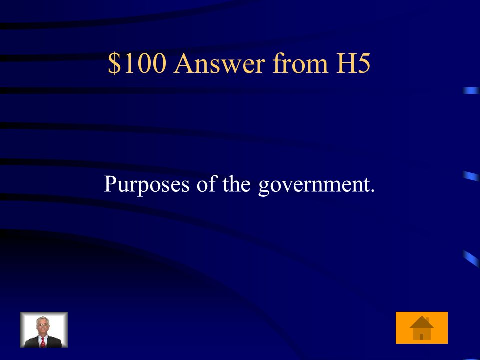 $100 Question from H5 What is the Preamble a list of