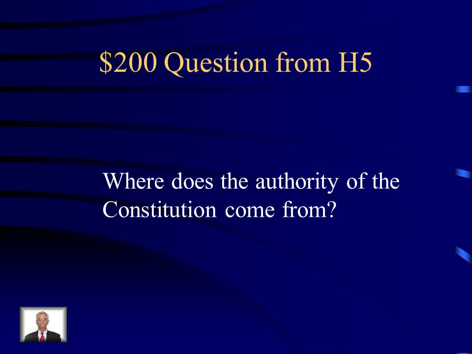 $100 Answer from H5 Purposes of the government.