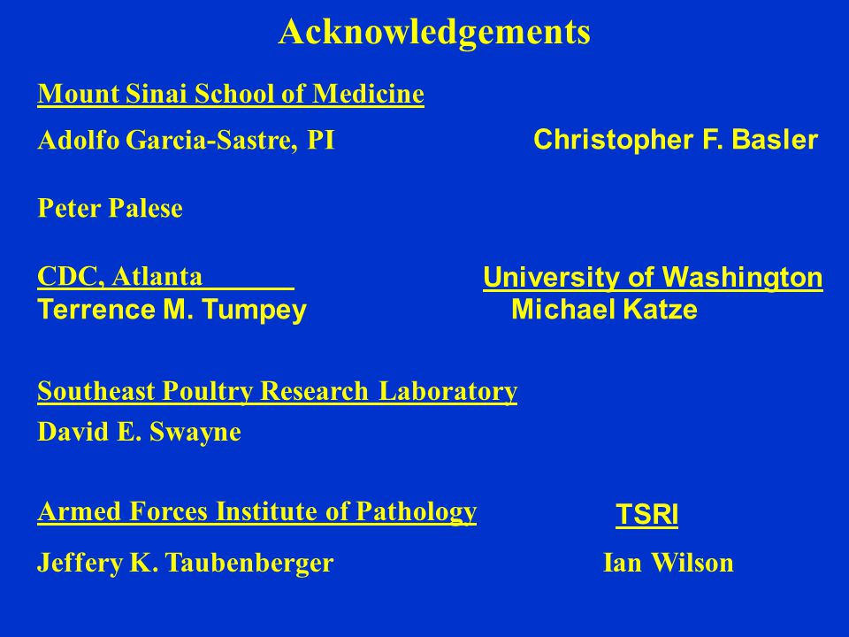 Acknowledgements Armed Forces Institute of Pathology Jeffery K.