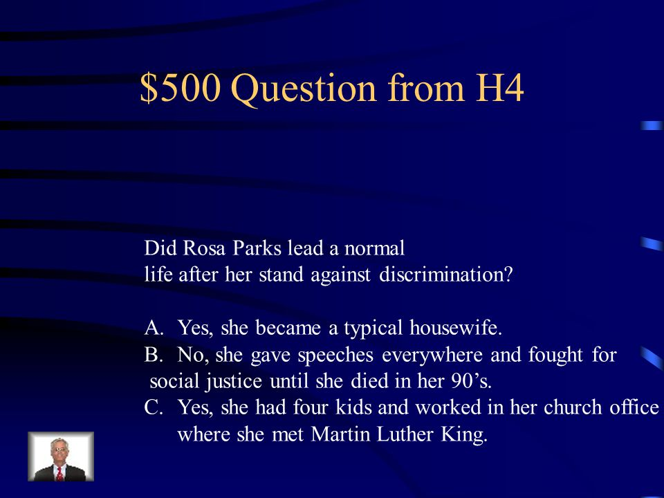 $400 Answer from H4 90s