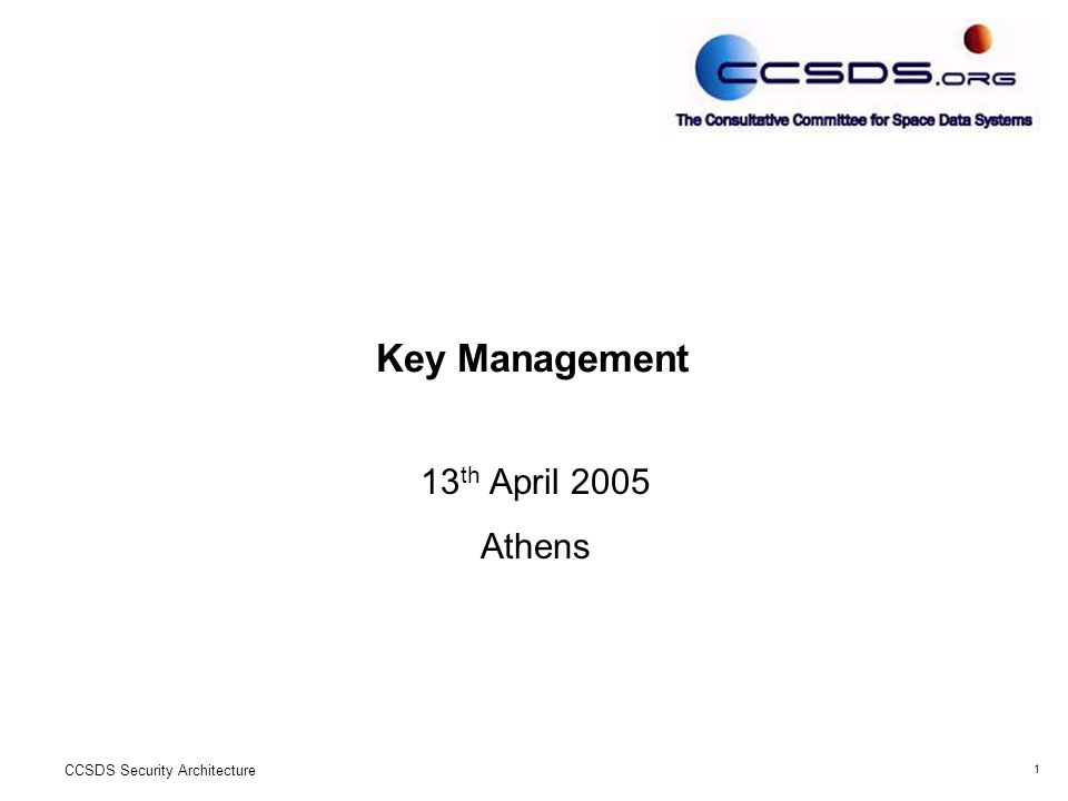 12 CCSDS Security Architecture END