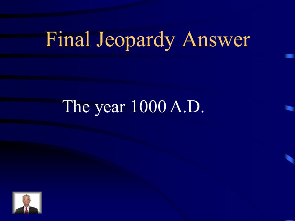 Final Jeopardy For many years, Christopher Columbus was known as the first European to discover America in 1492.