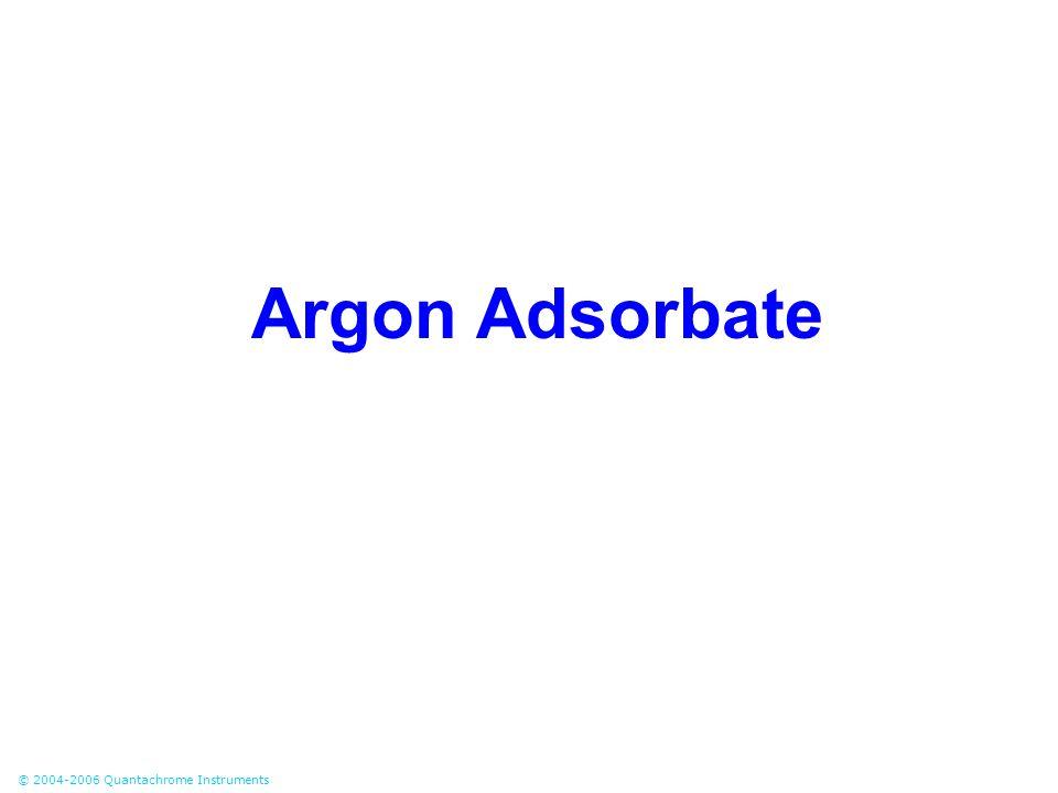© 2004-2006 Quantachrome Instruments Argon Adsorbate