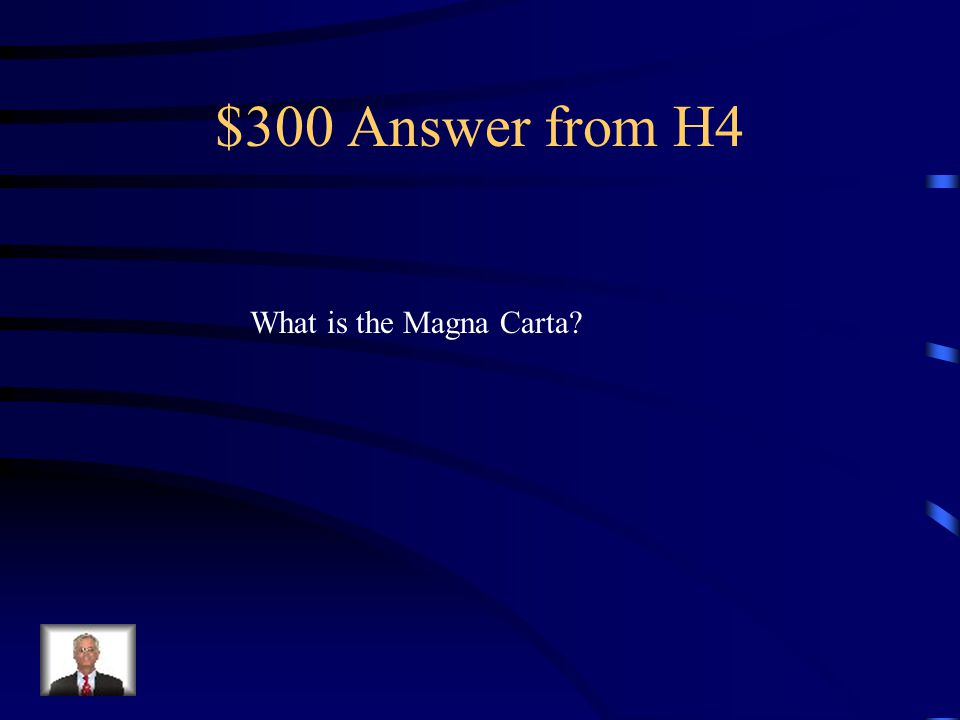 $300 Question from H4 A long term social effect of the Crusades that resulted in basic rights for Englishmen.