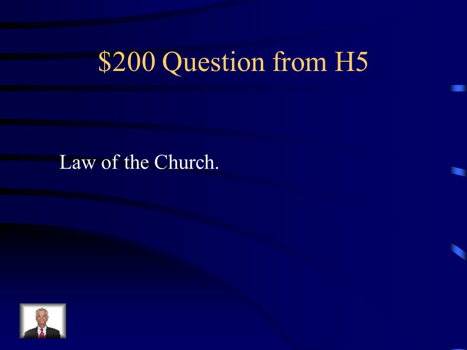 $100 Answer from H5 What are the Crusades?