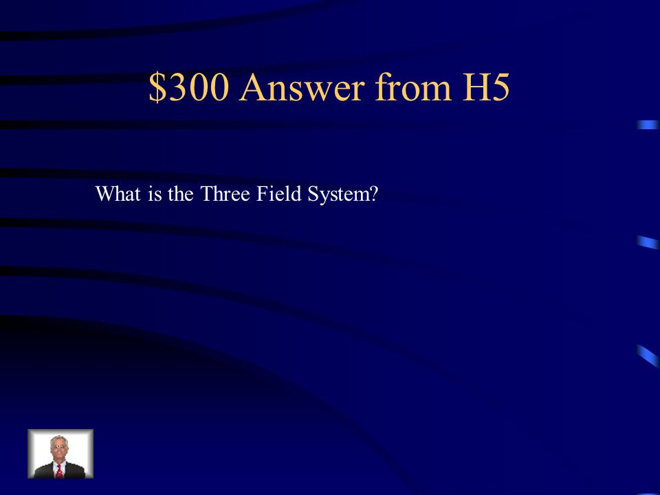 $300 Question from H5 Allowed farmers to plant on 2/3rds of their land rather than 1/2.