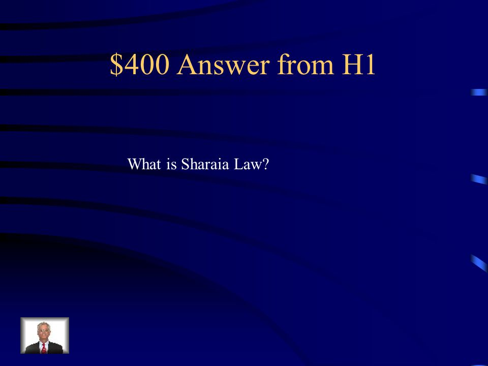 $400 Question from H1 Islamic law enforced by the expanding Islamic Empire