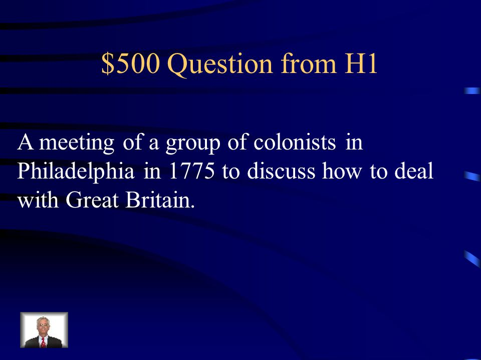 $400 Answer from H1 What was the Boston Massacre?