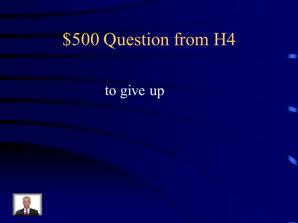 $400 Answer from H4 What is liberty?