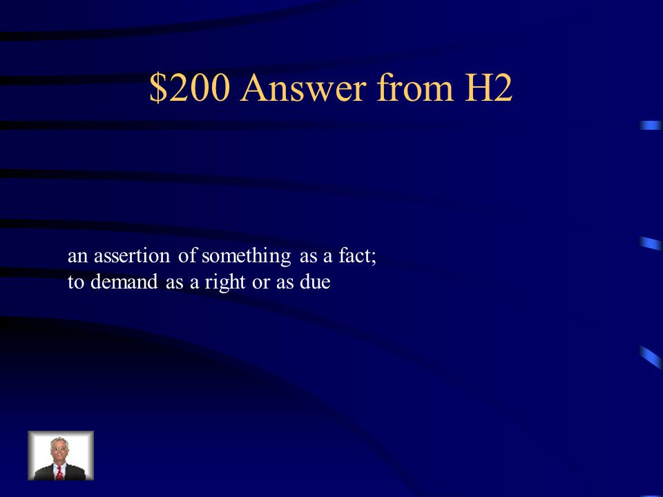 $200 Question from H2 claim