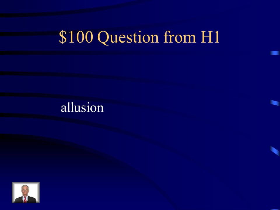 $100 Question from H2 audience