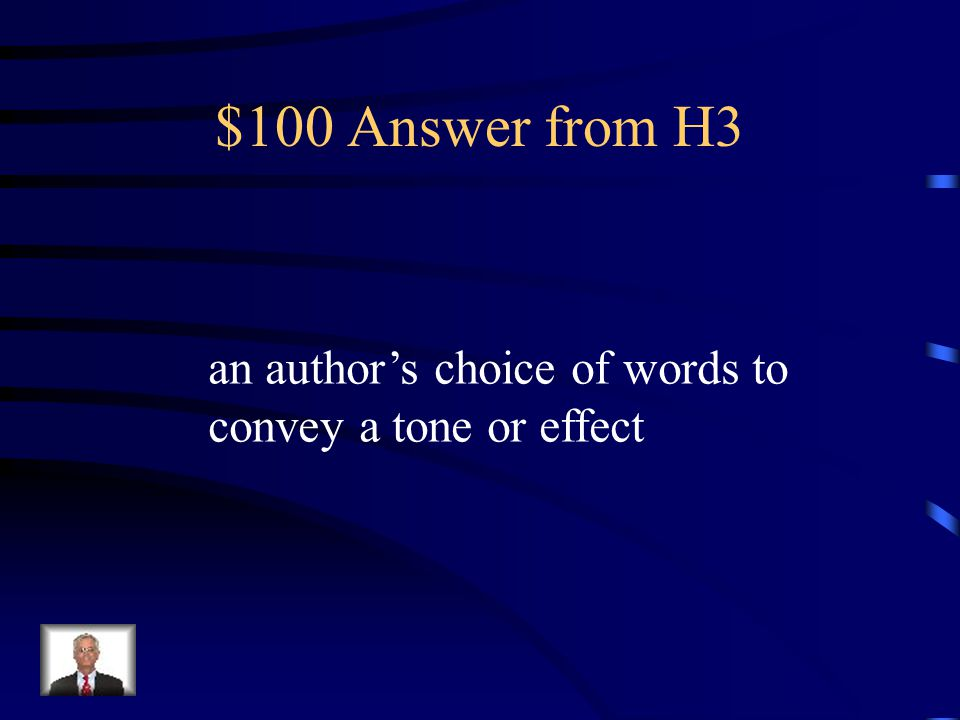 $100 Question from H3 diction