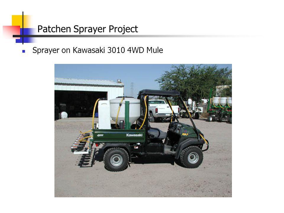 Patchen Sprayer Project Sprayer on Kawasaki 3010 4WD Mule