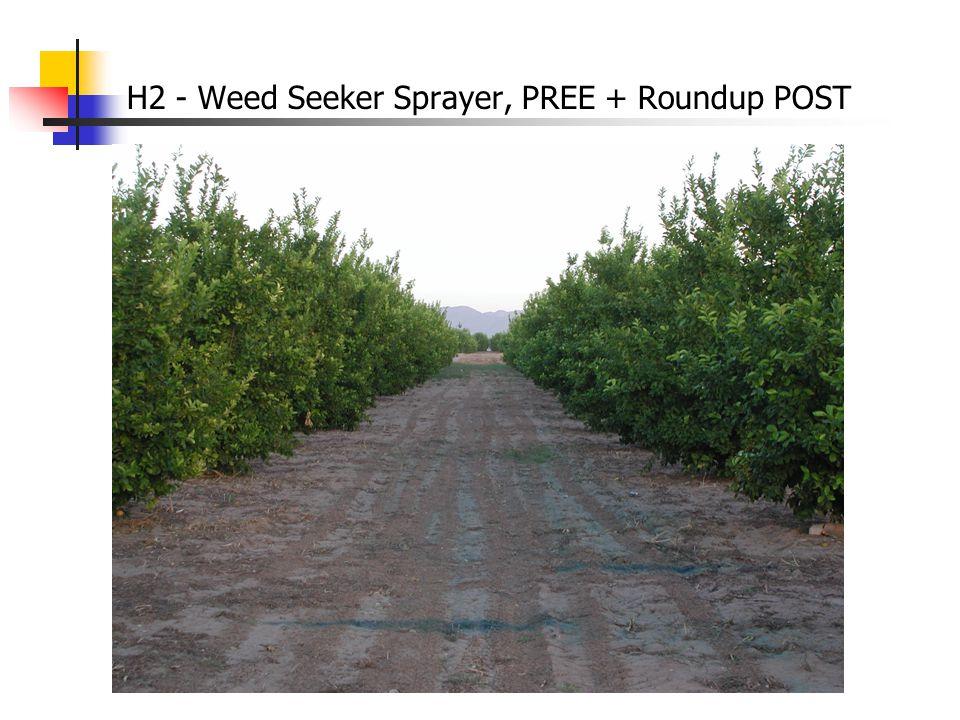 H2 - Weed Seeker Sprayer, PREE + Roundup POST