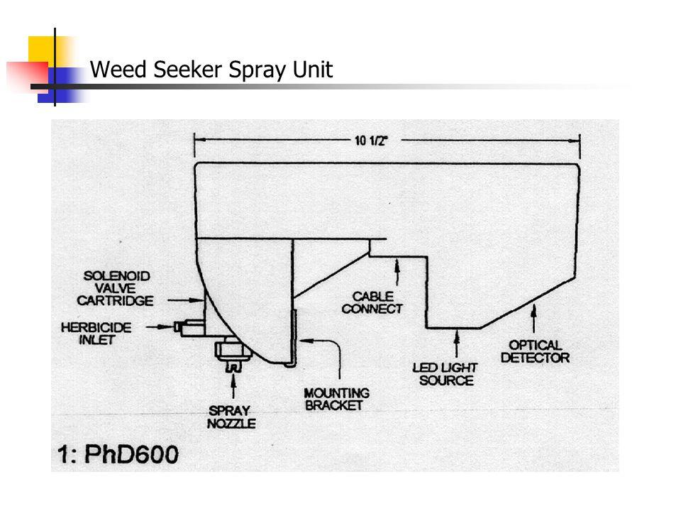 Weed Seeker Boom Configuration