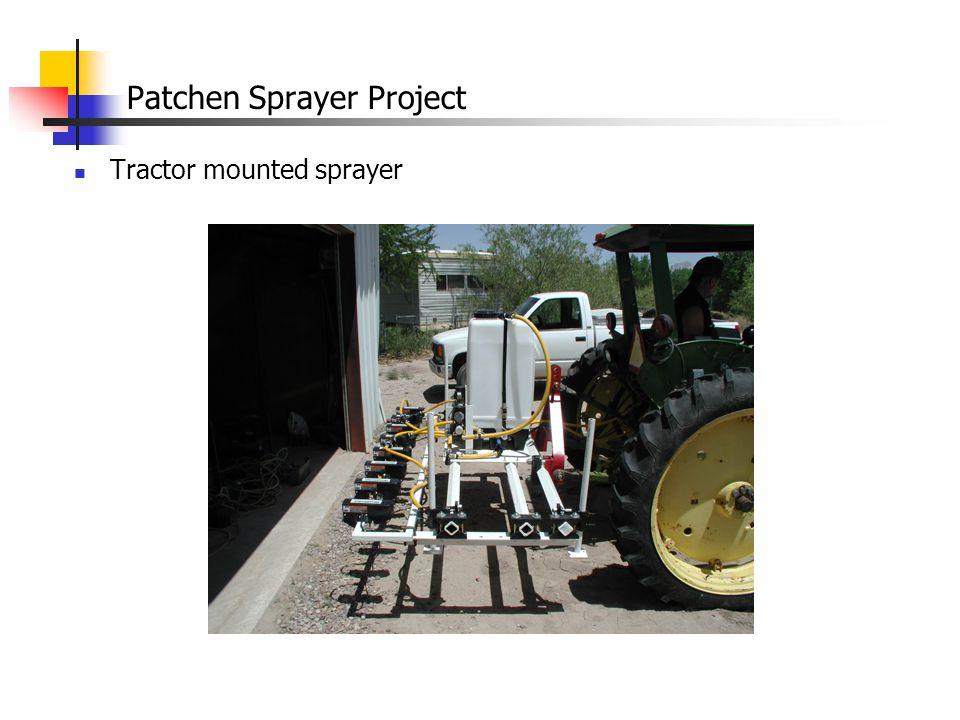 Patchen Sprayer Project Constructed a second WeedSeeker sprayer on a Kawasaki 4WD 3010 Mule
