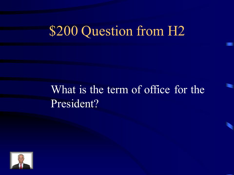 $100 Answer from H2 The Cabinet