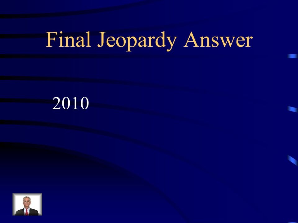 Final Jeopardy In what year did the United States have the most recent census?
