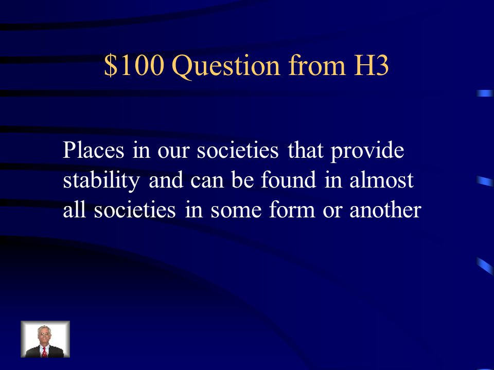 $500 Answer from H2 Traditions of the culture are passed on Beliefs such as spiritualism and religion are passed on Behaviours of leaders and kinship are carried on for years