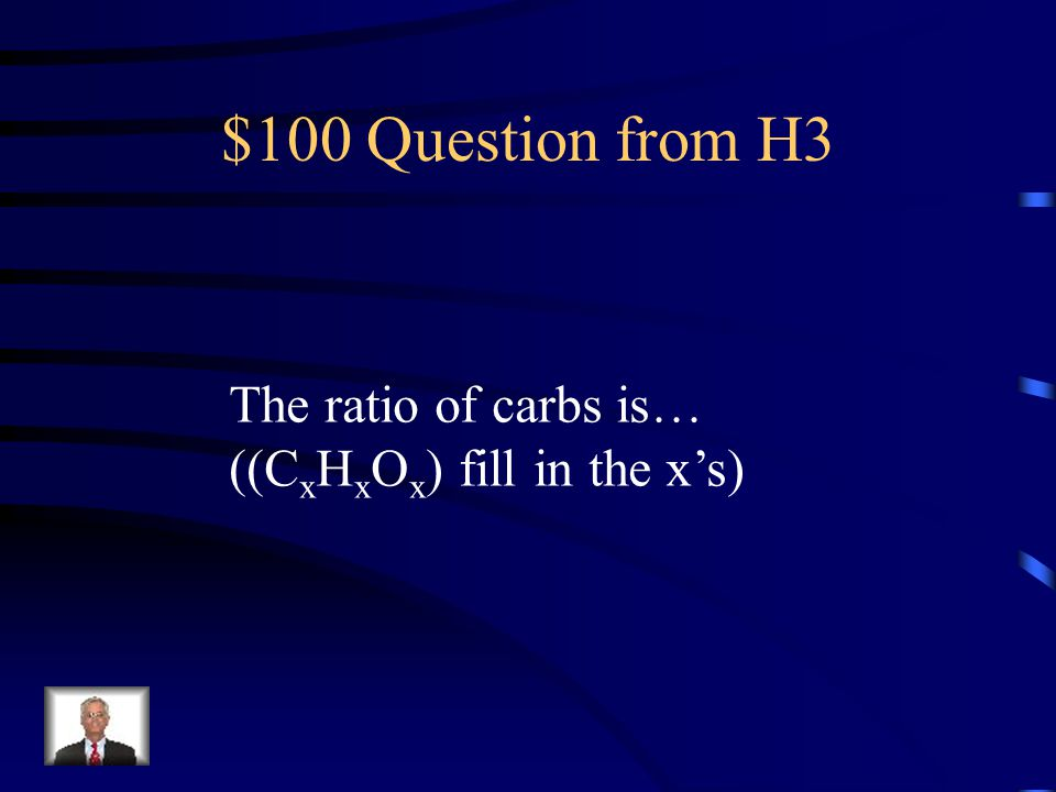 $500 Answer from H2 1.Used to form cell membranes 2. Send messages in the body 3. Store energy