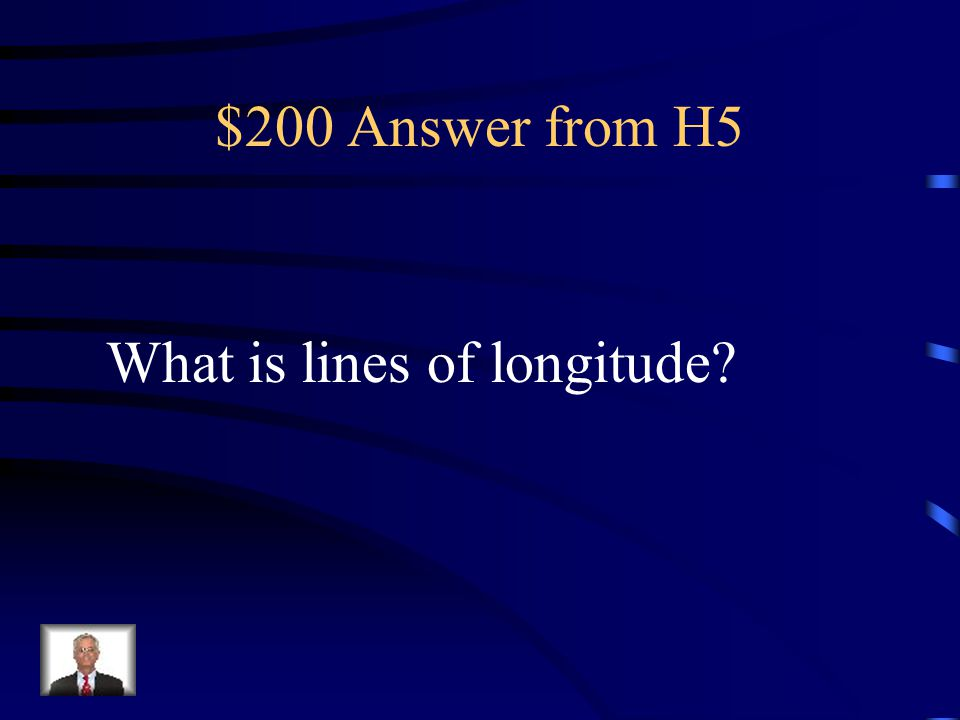 $200 Question from H5 I run north and south and measure distances east and west.