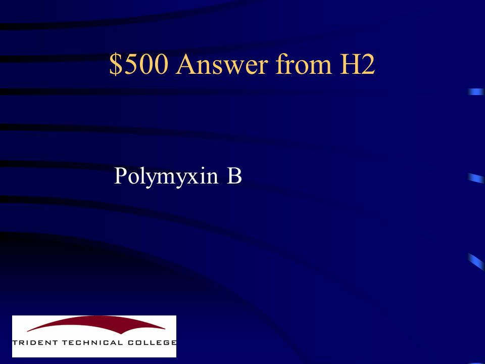 $500 Question from H2 Name an antibiotic from this class.