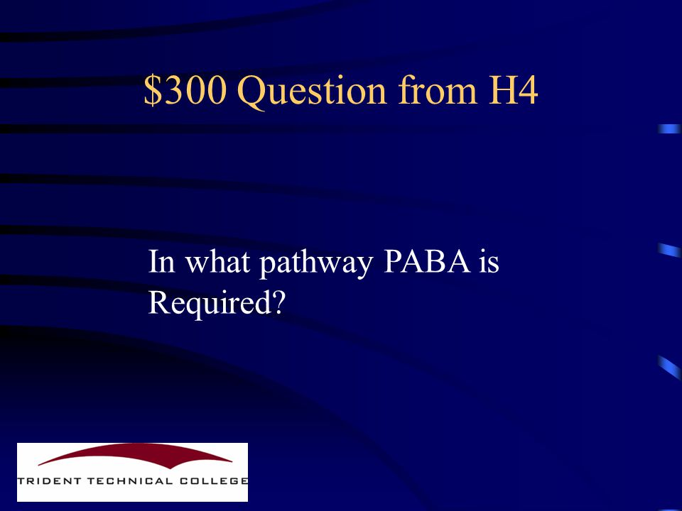 $200 Answer from H4 PABA