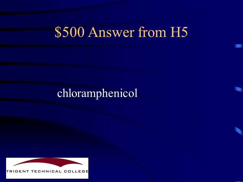 $500 Question from H5 Name a drug from this class Beginning with the letter 'C'