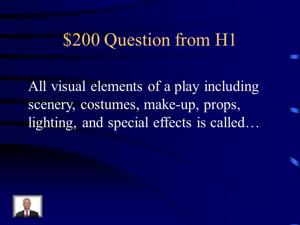 $100 Answer from H1 soliloquy