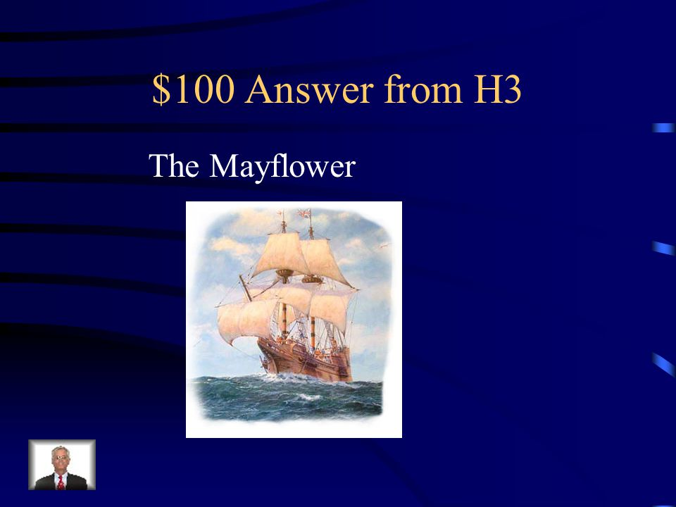 $100 Question from H3 In September 1620, what ship set sail from England bound for the northern edge of Virginia