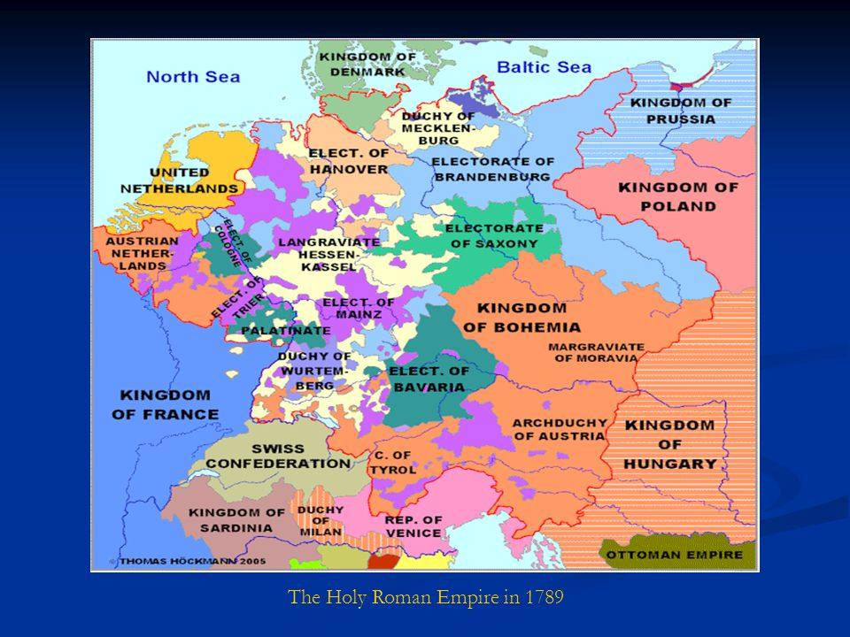 The Holy Roman Empire in 1789