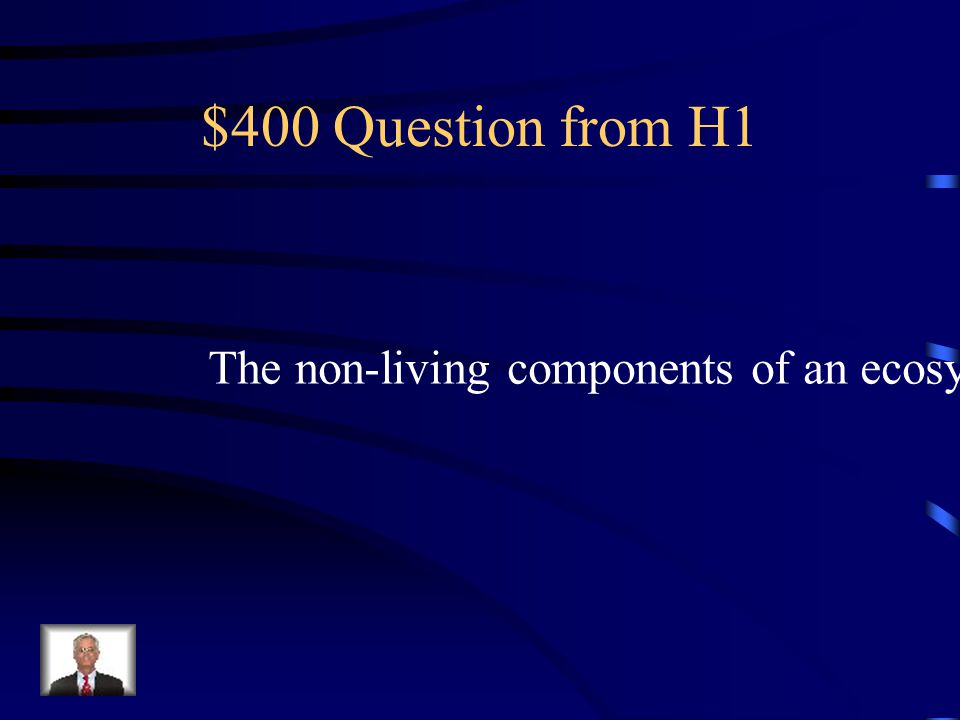 $300 Answer from H1 Ecological footprint