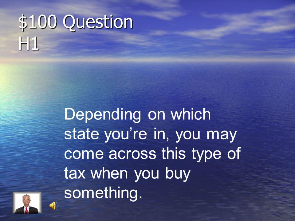 Jeopardy Tax TypesPayroll TaxDifferences Key Terms Q $100 Q $200 Q $300 Q $400 Q $500 Q $100 Q $200 Q $300 Q $400 Q $500 Double Jeopardy Pay Stub